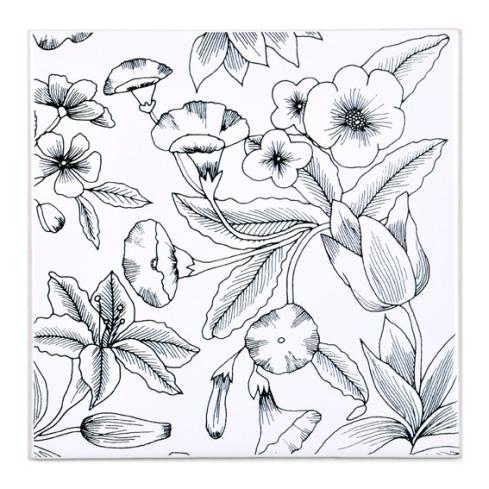 Azulejo PB Flores e Linhas, da Calu Fontes