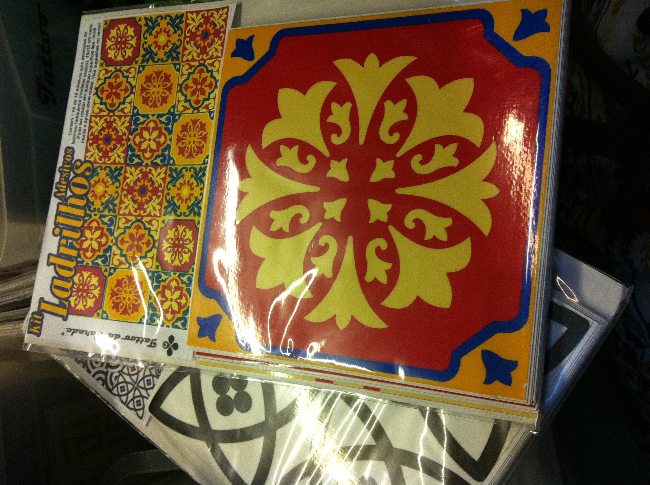 adesivos de azulejo Casa de Filó #7A2314 2592x1936 Banheiro Com Adesivo De Azulejo
