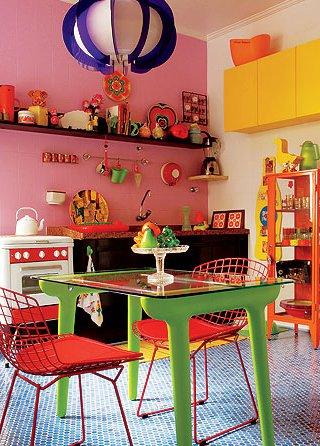 cozinha mega colorida