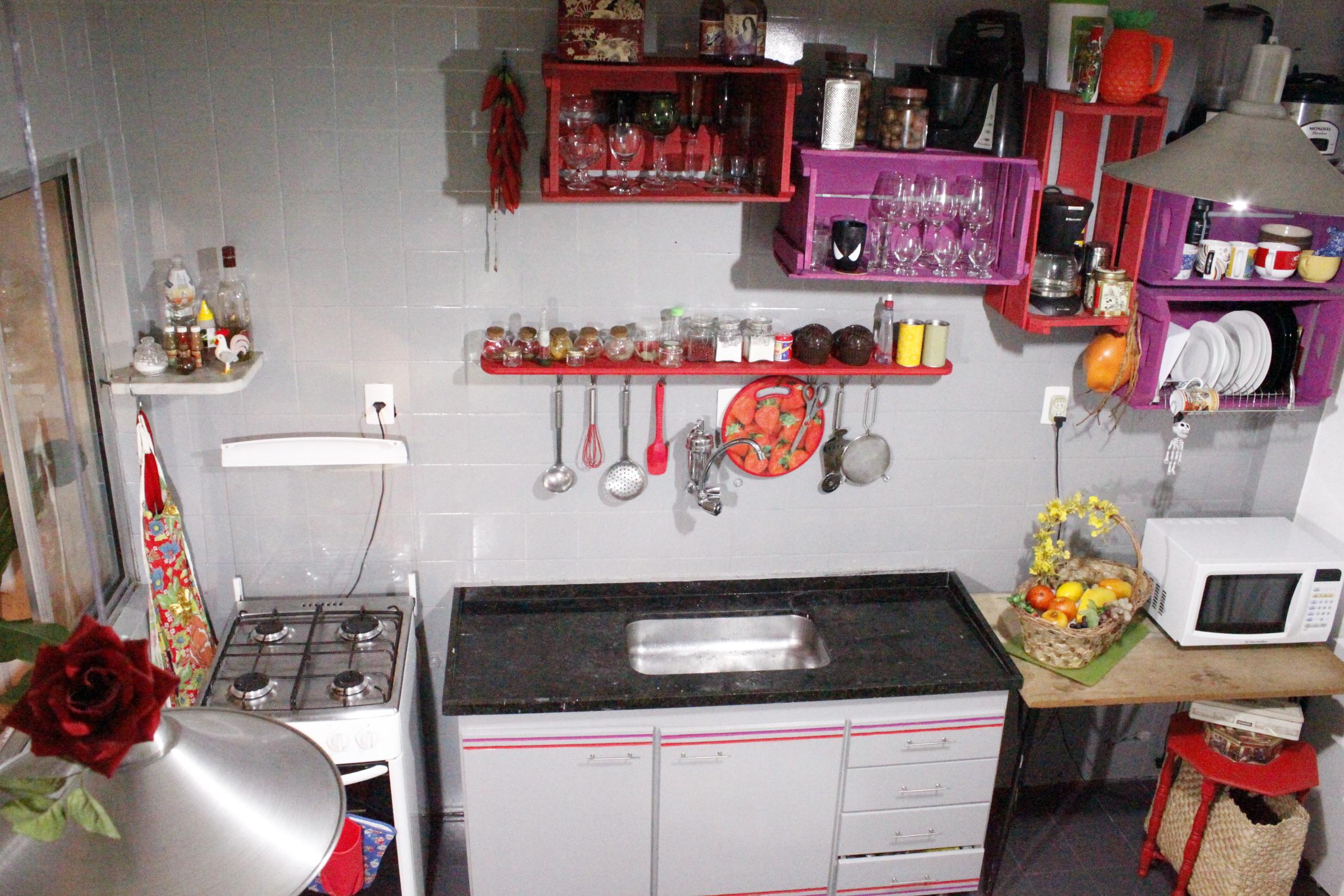 Cozinha Colorida Casa De Fil