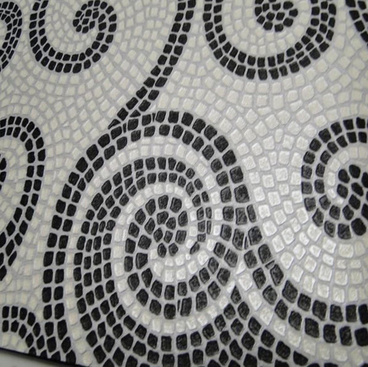 papel de parede revestimento Casa de Filó #6B6B60 1244x1240 Banheiro Com Azulejo E Papel De Parede