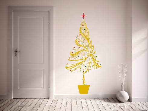 Árvore de Natal adesivada