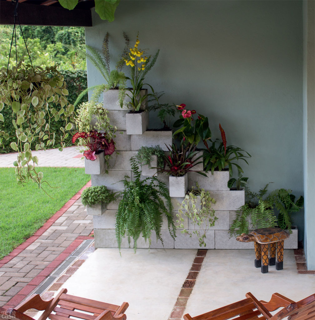 Jardim Vertical Com Blocos De Concreto ~ Grades De Concreto Para Jardim