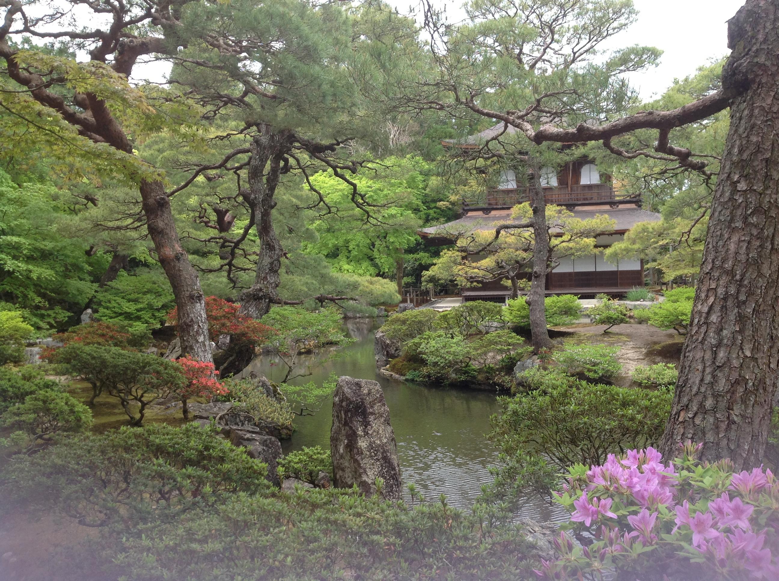 Pedacinho lindo, lindo dos jardins do Templo Ginkokuji, em Kyoto