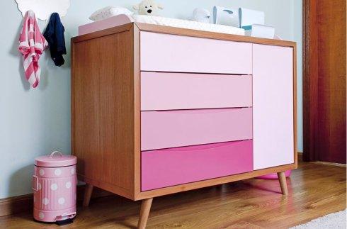 Comoda rosa degradê ameise design